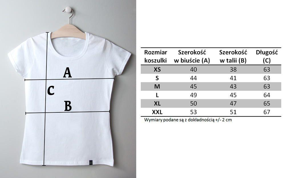 Wymiary damskich koszulek