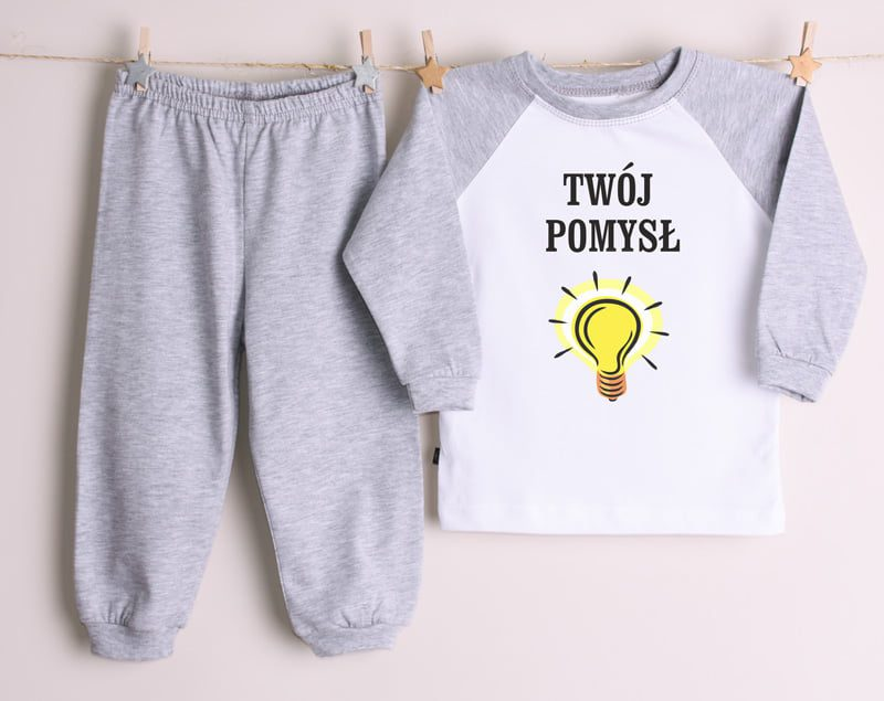 4d4de379ac57d6 ... nadruk»Piżama dziecięca/niemowlęca z własnym nadrukiem. Previous