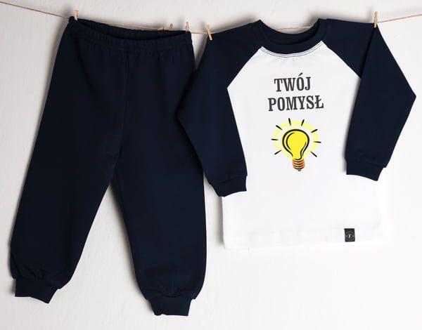 f1435bd20ecac3 Piżama dziecięca/niemowlęca z własnym nadrukiem - Fabryka Bodziaków