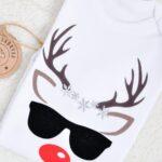 Koszulka/Body na święta z reniferem