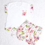 Letni komplet (bloomersy +bluzeczka)
