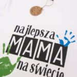Koszulka z nadrukiem Najlepsza mama na świecie rozmiar XS