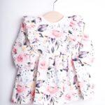 Sukienka w kwiaty dla dziewczynki