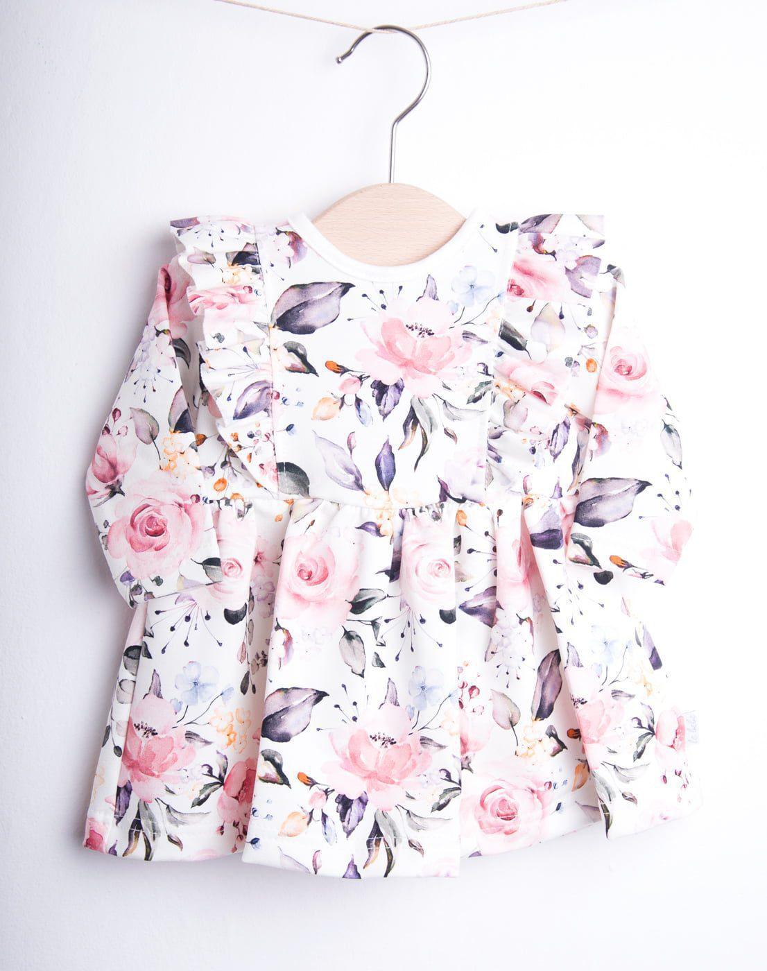 Sukienka W Kwiaty Dla Dziewczynki Fabryka Bodziaków