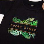 Koszulka z krótkim rękawem Super synek rozmiar 80