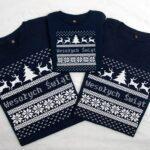 Koszulki na Święta z nadrukiem sweterka dla całej rodziny