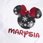Koszulka z długim rękawem zimowa myszka z imieniem Marysia rozm. 98