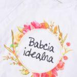 Koszulka damska z wydłużonym tyłem XL Babcia Idealna