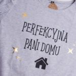Koszulka damska z wydłużonym tyłem rozmiar XL Perfekcyjna Pani Domu