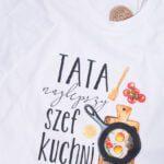 Koszulka standardowa męska rozmiar XL tata najlepszy szef kuchni