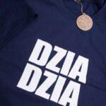 Koszulka męska granatowa rozmiar XL z napisem DZIA DZIA