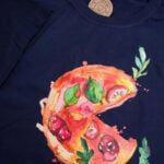 Koszulka męska rozmiar XXL z napisem z nadrukiem pizzy