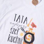 Koszulka męska rozmiar XXL z napisem tata najlepszy szef kuchni