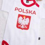 Body z krótkim rękawem rozmiar 62 kibic Polska z cyfrą 9
