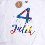 Koszulka z długim rękawem na 4 urodziny Julek rozmiar 104