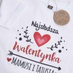 Koszulka z krótkim rękawem Najsłodsza walentynka mamusi i tatusia rozmiar 104