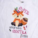Koszulka z długim rękawem Super starsza siostra Zosia rozmiar 110