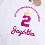 Koszulka z długim rękawem rozmiar 86 na urodziny z imieniem Jagódka