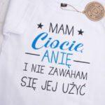 Koszulka z krótkim rękawem rozmiar 92 mam ciocię Anię