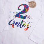 Koszulka z długim rękawem na 2 urodziny Antoś rozmiar 98