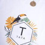 Koszulka białą męska standardowa Tata tropik rozmiar XXL