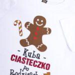 Koszulka biała z krótkim rękawem Kuba ciasteczko po rodzicach rozmiar 104