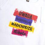Koszulka biała z krótkim rękawem Uwaga przedszkolaki nadchodzę Nikola rozmiar 104