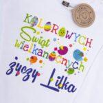 Koszulka biała z długim rękawem Kolorowych świąt życzy Lilka rozmiar 92