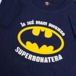 Koszulka granatowa z krótkim rękawem Ja już mam swojego superbohatera rozmiar 98