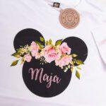 Koszulka biała z krótkim rękawem rozmiar 134 Myszka Maja