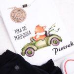 Koszulka dla dziecka pora do przedszkola + imię