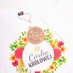 Koszulka biała z krótkim rękawem córka królowej rozmiar 116