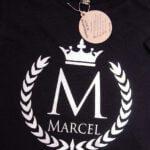 Koszulka czarna z krótkim rękawem Wieniec srebrny Marcel rozmiar 128