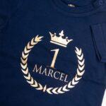 Koszulka granatowa z krótkim rękawem rozmiar 80 Złoty wieniec Marcel