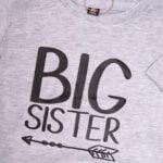 Koszulka szara z krótkim rękawem Big sister rozmiar 86