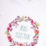 Body białe z krótkim rękawem Big sister w rozmiarze 92