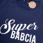 Koszulka granatowa damska standard Super babcia rozmiar L
