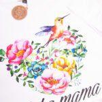 Koszulka biała damska luźny tył Jaka mama rozmiar L