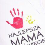 Koszulka biała damska standard Najlepsza mama na świecie rozmiar M