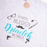 Koszulka męska szara standard Po prostu najlepszy dziadek rozmiar XL
