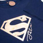 Koszulka męska granatowa standard Super tata rozmiar XXL