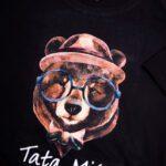 Koszulka męska czarna rozmiar XXL Slim  Tata miś