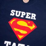 Koszulka męska granatowa standard Super tata rozmiar XL