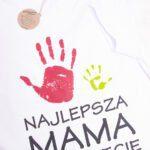 Koszulka biała standard damska Najlepsza mama na świecie rozmiar M